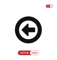 left arrow button icon vector image