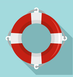 Life buoy ring icon flat style vector