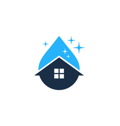 liquid house logo icon design vector image