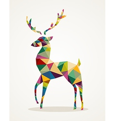 Merry christmas trendy abstract reindeer eps10 vector