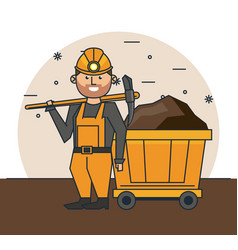 mining worker cartoon vector image