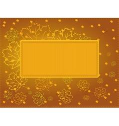 Multi purpose autumn card vector image