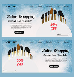 online shopping cosmetic web banner vector image