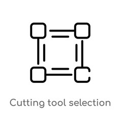 Outline cutting tool selection icon isolated vector