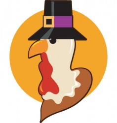 Pilgrim turkey vector