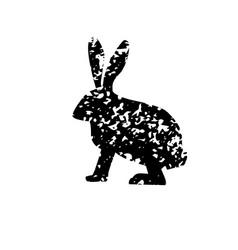 Rabbit texture vector