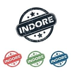Round indore city stamp set vector