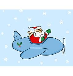 Santa Flying vector image