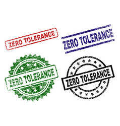 Scratched textured zero tolerance stamp seals vector