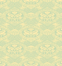 Seamless floral antique pattern light vector