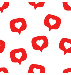 seamless pattern with social media hand drawn vector image