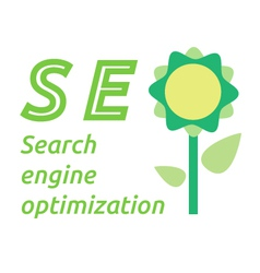 SEO word with flower symbol vector
