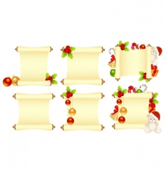 set Christmas letters vector image