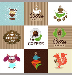 Set of coffee elements and accessories vector