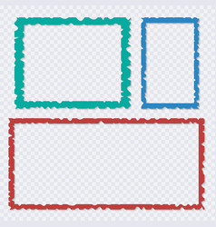 set of color torn paper frames with shadows vector image