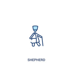 Shepherd concept 2 colored icon simple line vector