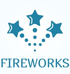 Sign or icon of fireworks in flat style vector image