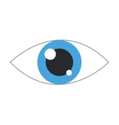 simple blue eye icon vector image