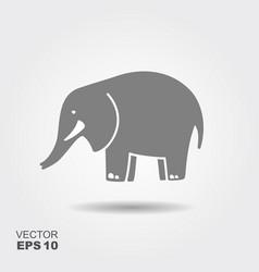 simple icon elephant vector image