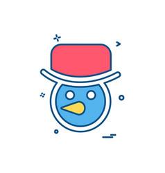 snowman icon design vector image