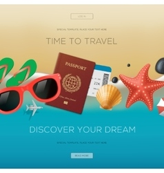 summertime vacation background time to travel vector image