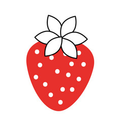 sweet strawberry fruit fresh raw food healthy vector image