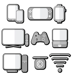 technology icons 2 with shadow vector image