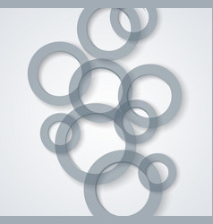 transparent circles background abstract 3d vector image