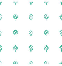 tree icon pattern seamless white background vector image
