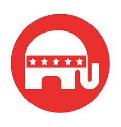 Usa elephant symbol icon vector