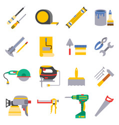 Various color flat design house repair vector