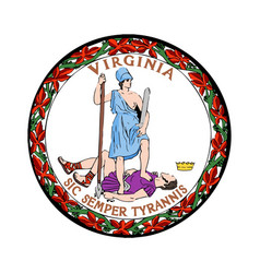 virginia seal vector image