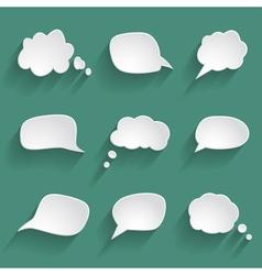 White paper speech bubbles vector