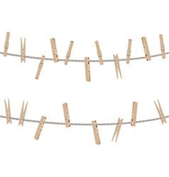 Wooden Clothespin Set4 vector
