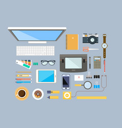workplace designer office equipment mobile vector image