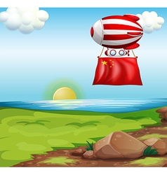 A balloon with the flag of china vector