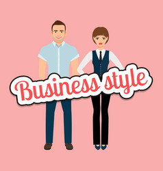 fashion elegant couple in business clothing vector image