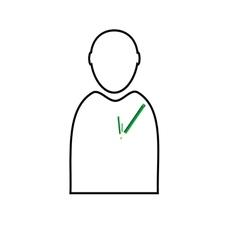 man with eco pencil vector image vector image