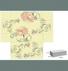 vintage template for box design vector image vector image