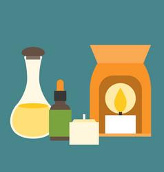 aromatherapy equipment icons set vector image