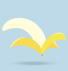 banana isolated on background vector image vector image