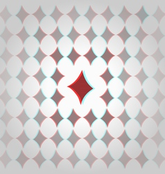 Clubs 3d geometric background vector image