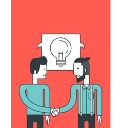 Successful business deal vector