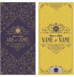 Wedding invitation cards vector