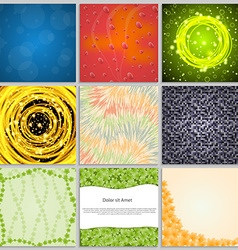 Collection elegant abstract backgrounds vector image vector image