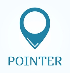 Map pointer icon Location symbol in flat style vector image