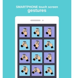 Touch gestures on smartphone vector image