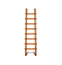 wooden ladder with shadow leading up vector image