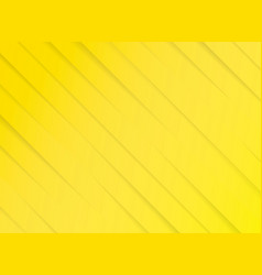 yellow striped diagonal paper cut background vector image vector image