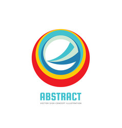 abstract circle logo template concept vector image vector image